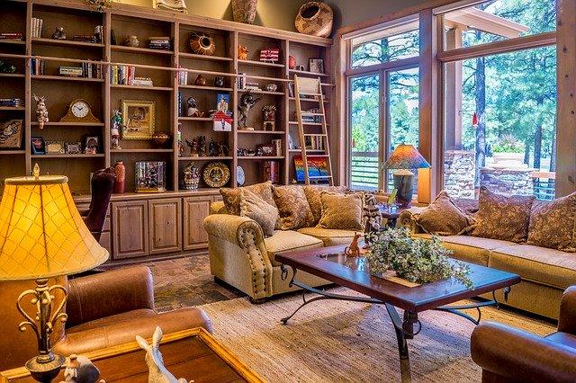 Intérieur maison location airbnb